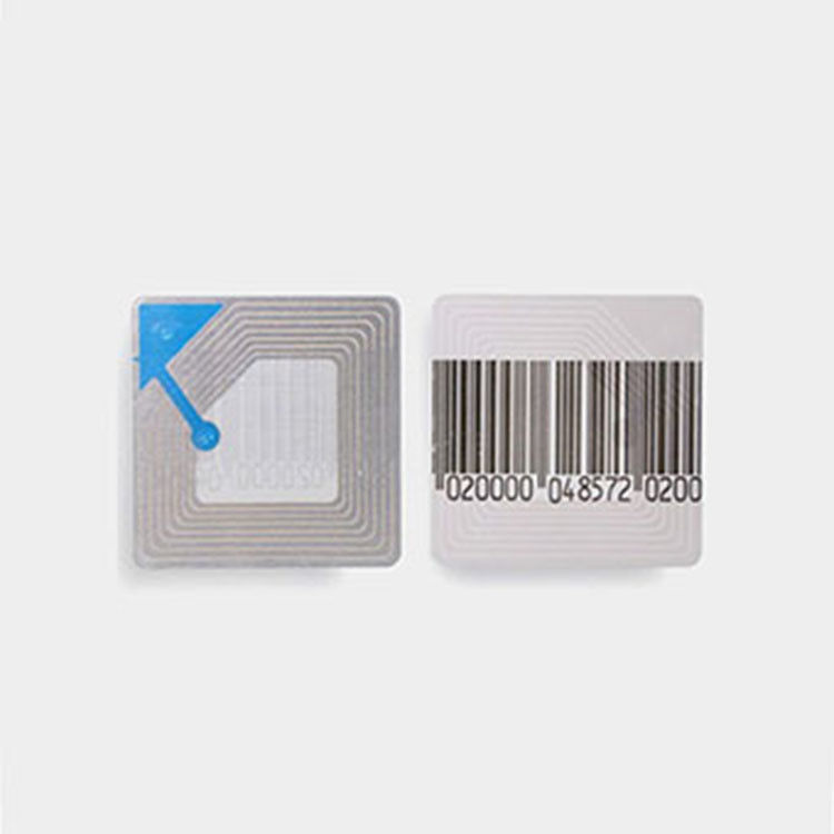 RF Rf Security Soft Label Barcode Sensor Tags Anti - Theft  Transparent